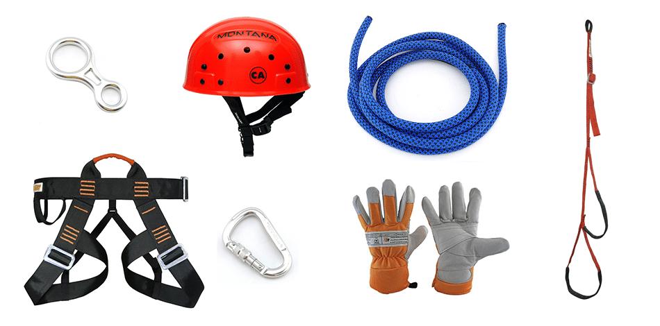 equipamentos de rapel