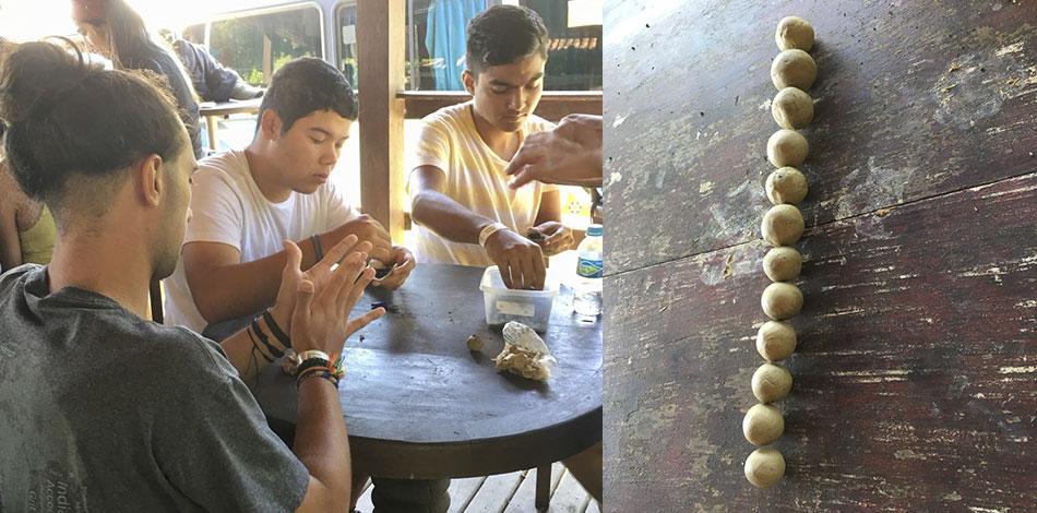 participantes fazendo munições para o ecorafting