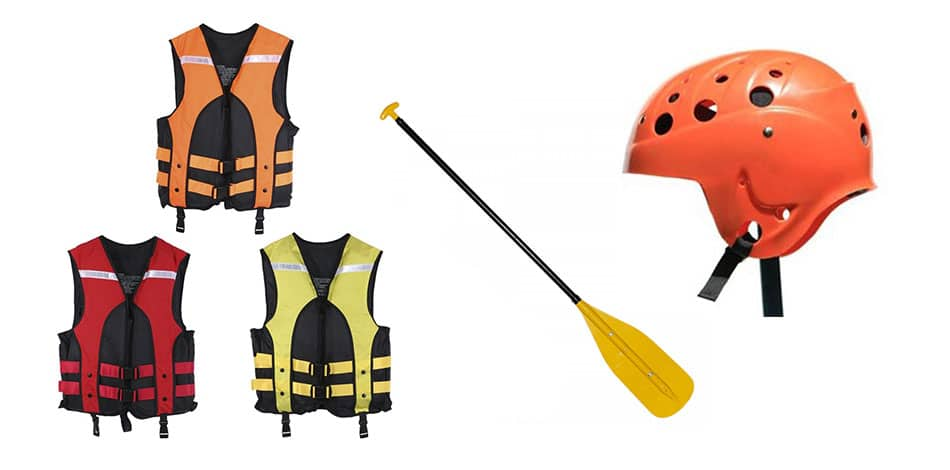 equipamentos para rafting