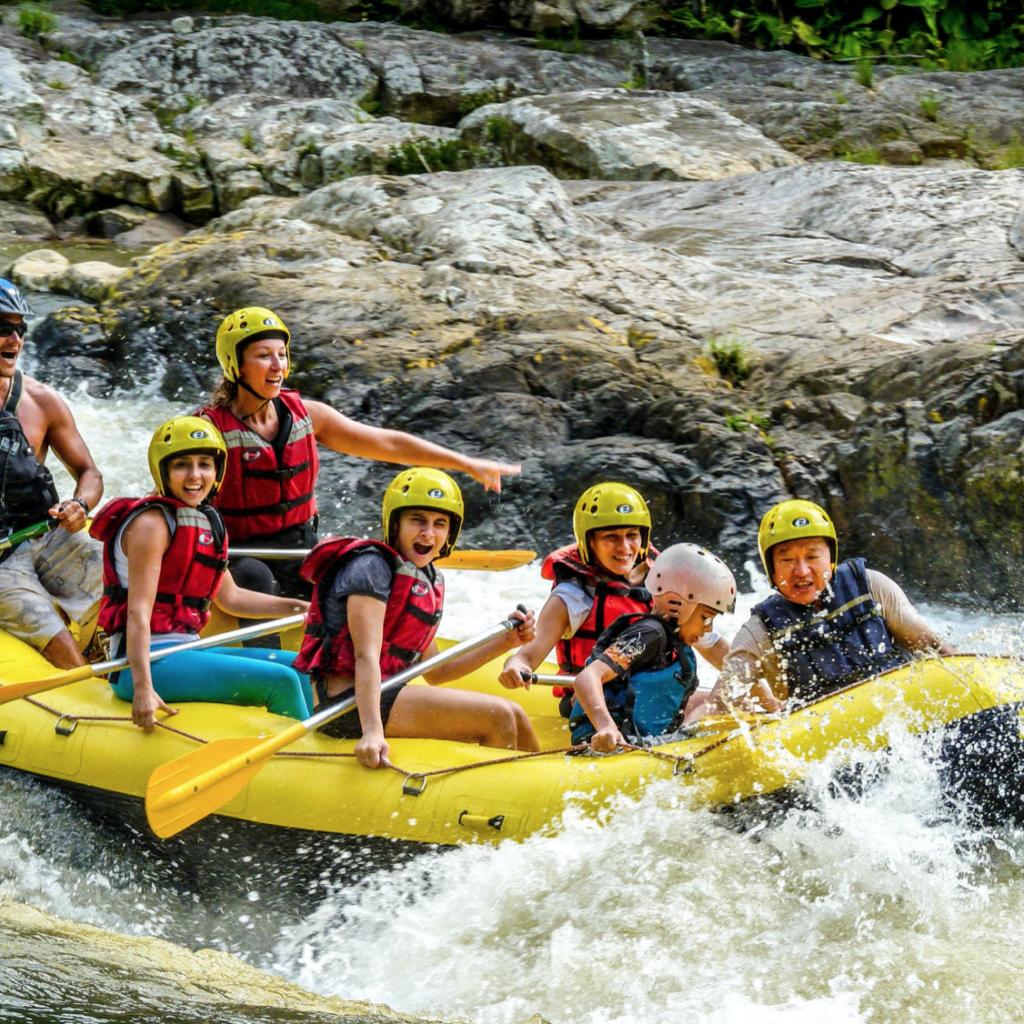 ecoaventuras: rafting cachoeira
